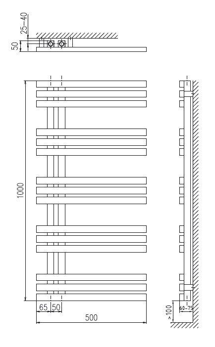 Plieger Inox Suono Destra Designradiator Horizontaal Rvs