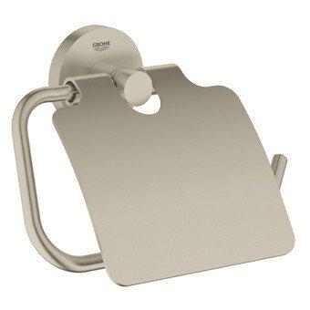 Grohe Essentials closetrolhouder met klep brushed nikkel - 40367EN1