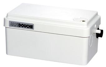 Sanibroyeur Sanidouche vuilwaterpomp Sanidouche voor douche, wastafel of bidet 295x162x144mm wit - 5079