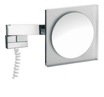 Emco scheerspiegel m. LED-verlichting vierkant m. snoer (factor 3) - 109600125