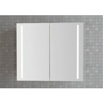 Dansani Luna spiegelkast m. geintegreerde LED verlichting verticaal 80x70x19cm glansgrijs - SP37813E