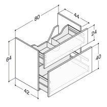 Dansani Luna wastafelonderbouwkast versterkt -64cm- voor wastafel Minore 80x44x64cm mat wit - N01771V