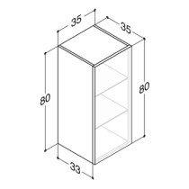 Dansani Luna lage kast -80cm- m. 1 deur coffee - N21941