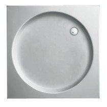Plieger Luxury douchebak acryl vierkant m. ronde inzet - 940850