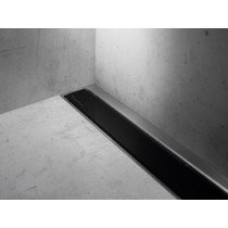 Easy Drain Modulo Luxe-wall/TAF rooster glas zwart zonder inbouwdeel 110cm - MLWGS1100