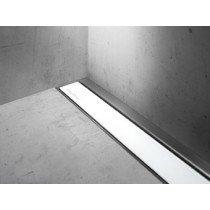 Easy Drain Modulo Luxe-wall/TAF rooster glas wit zonder inbouwdeel 110cm - MLWGW1100