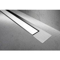 Easy Drain Modulo TAF Designrooster Z3 Mat glas wit zonder inbouwdeel 120cm Glas wit - MTAFDZ3MGW1200