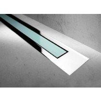 Easy Drain Modulo TAF Designrooster Z4 Gepolijst glas groen zonder inbouwdeel 100cm Glas groen - MTAFDZ4PGG1000