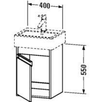 Duravit Ketho wastafelonderbouw m. 1 deur 40x32x55cm basalt v. Vero 070445 (ongeslepen) - KT6630L4343