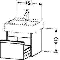 Duravit Ketho wastafelonderbouw m. 1 lade 45x44x41cm basalt v. Vero 045450 (ongeslepen) - KT668504343