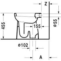 Duravit D-Code closetpot vlakspoel + 6cm - 21520100002