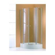 Huppe 501 Design Pure zwaaideur m. vast segment voor douchecabine kwartrond per deel 100x190cm zilvermat/helder - 510672087321