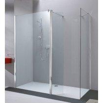 Huppe 501 Design Pure zwaaideur met vast segment voor Walk-In 121.6/123.1x200cm zilvermat/privatima - 510894087375