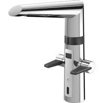 Hansa Hansafit elektronische keukenkraan m. infrarood 230V m. 120 graden draaibare uitloop 19.3cm - 65232213