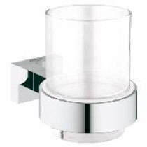 Grohe Essentials Cube glas m. houder  chroom - 40755001