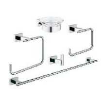 Grohe Essentials Cube accessoireset 5 in 1  chroom - 40758001