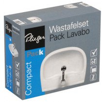 Plieger Compact wastafelset compleet 55x42cm wit - 4970048