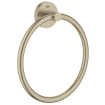 Grohe Essentials handdoekring diameter 18cm brushed nikkel - 40365EN1