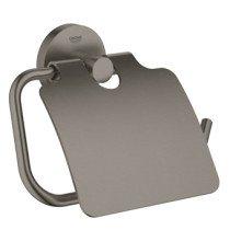 Grohe Essentials closetrolhouder met klep brushed hard graphite - 40367AL1