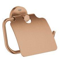 Grohe Essentials closetrolhouder met klep brushed warm sunset - 40367DL1
