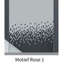 Novellini Rose douchewand (68-71)x200cm mat-chroom/motiefrose1 - ROSEFH68-56B