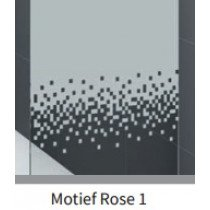 Novellini Rose douchewand (98-101)x200cm glans-chroom/motiefrose1 - ROSEFH98-56K