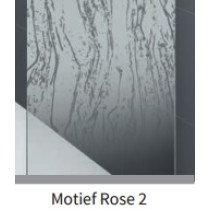 Novellini Rose douchewand (68-71)x200cm mat-chroom/motiefrose2 - ROSEFH68-57B