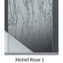 Novellini Rose douchewand (88-91)x200cm glans-chroom/motiefrose2 - ROSEFH88-57K