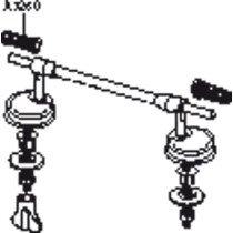 Pressalit scharnier met doorlopende pen - BV5999