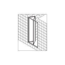 Kermi Ibiza-2000 vouwdeur voor nis of zijwand 90x185cm matzilver/helder m. KermiClean (antikalk) - I2FTD090181PK