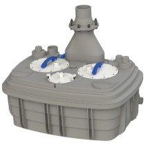 Sanibroyeur Sanicubic opvoerinstallatie afvalwater Sanicubic 2XL Expert-line tweepomps 913x713x799mm  - 5212