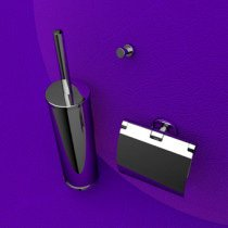 Geesa Nemox toiletset compleet m. closetrolhouder m. klep, borstelgarnituur + ophanghaak - 650002115