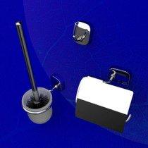 Geesa Thessa toiletset compleet m. closetrolhouder m. klep, borstelgarnituur + ophanghaak - 240002115