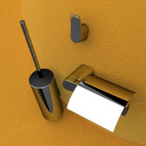 Geesa Wynk toiletset compleet m. closetrolhouder m. klep rechts, borstelgarnituur + haak - 450002115