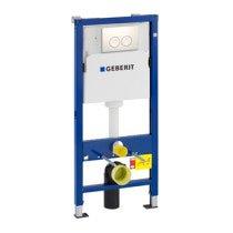Geberit Duofix Delta Basic WC-element met inbouwreservoir UP100 inclusief Delta 21 DF bedieningsplaat H112cm wit - 458133111