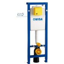 Wisa XS WC-element frontbediend, wateraansluiting 16x2 inwendig H1120-1320xB380xD140-200mm - 8050452801
