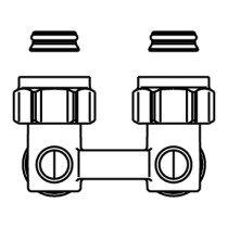 "Oventrop Multiflex H-onderblok F haaks 3/4""x3/4"" - 1015814"