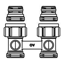 Oventrop Multiflex H-onderblok F recht - 1015883