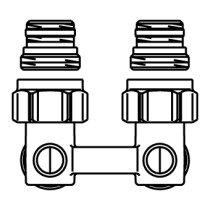 Oventrop Multiflex H-onderblok F haaks - 1015884
