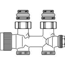 """Oventrop Multiblock H-onderblok T 2-pijps 1/2"""" - 1184083"""