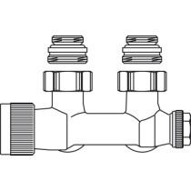 """Oventrop Multiblock H-onderblok T 2-pijps 1/2"""" - 1184084"""