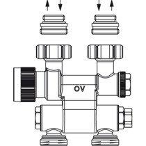 Oventrop Multiblock H-onderblok TF 2-pijps - 1184035