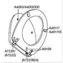 Pressalit kunststof buffer lang voor zitting - A4017000