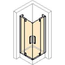 Huppe 501 Design Pure zwaaivouwdeur v. hoekinstap 120x190cm zilvermat/helder links - 510955087321