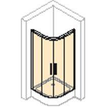 Huppe Design Elegance aanvullingsset v. zwaaideur in nis of v. zwaaideur m. korte zijwand 190cm chroom - 8E2601092