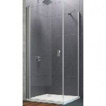 Huppe Design Pure zijwand v. zwaaideur 100x200cm zilvermat/helder - 8P1014087321