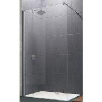 Huppe Design Pure Walk-In zijwand alleenstaand met stabilisatiebeugel 100x200cm zilvermat/bubbles - 8P1103087376