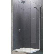 Huppe Design Pure Walk-In zijwand alleenstaand met dwarssteun 110x200cm zilvermat/chroomdecor element - 8P1108087372