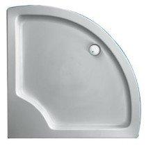 Plieger Luxury douchebak acryl kwartrond radius 55 - 940992