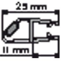 Huppe Divers magneetlijst rechts v. glas 6mm - 70032